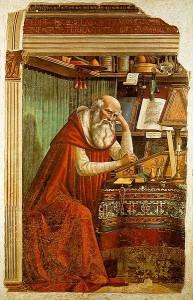 Domenico Ghirlandaio, Św. Hieronim w trakcie swojej pracy