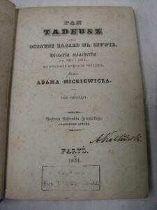 Pan Tadeusz Adama Mickiewicza po kaszubsku